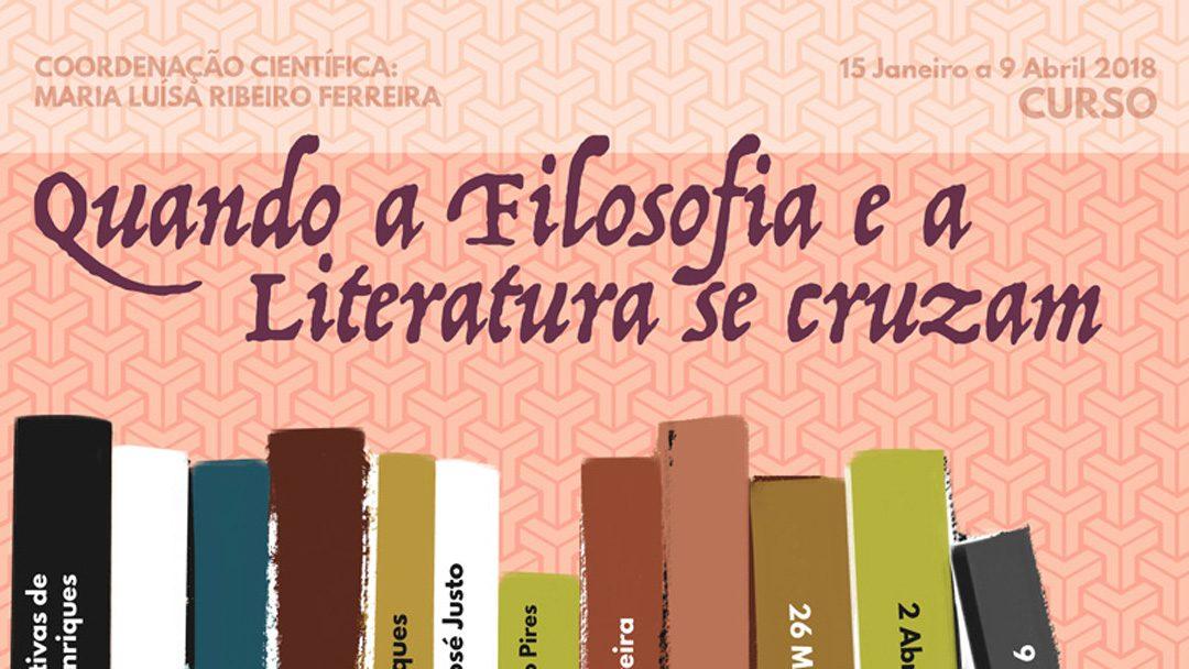"""Curso """"Quando a Filosofia e a Literatura se cruzam"""" – Isabel Rocheta"""
